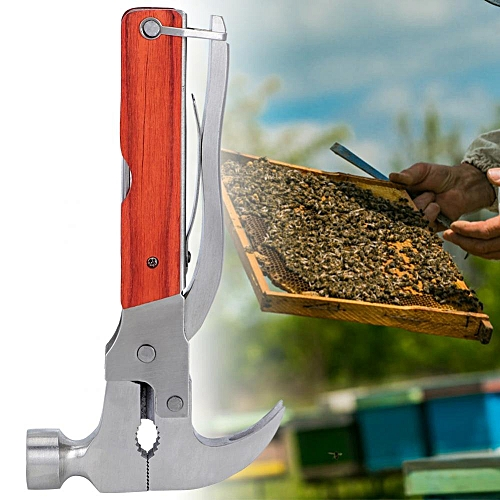 Multifunctional Folding Stainless Steel Claw Hammer Plier Tool For Camping Beekeeping