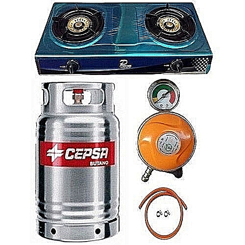 12.5kg Gas Cylinder,With Metered Controller , Hose & Clips