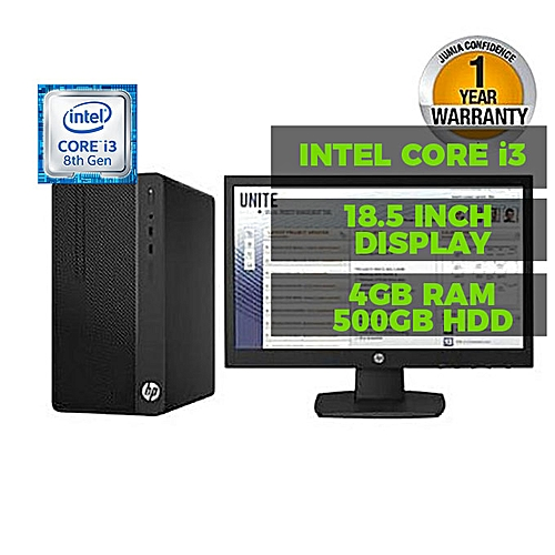 290 G1 Microtower PC Core I3 500GB/4GB FREEDOS Desktop PC + 18.5'' Monitor