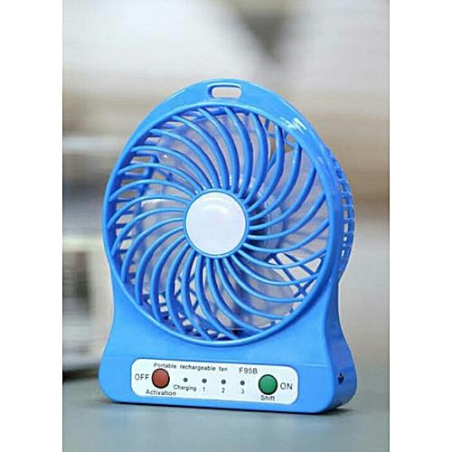 Portable Rechargeable Fan - Blue