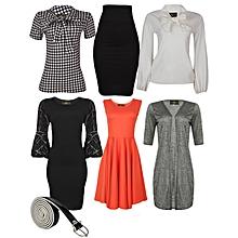 7d29eb36ff 7 In 1 Anniversary Bundle - 2 Tops,Dress,Pinafore,Belt,Skirt