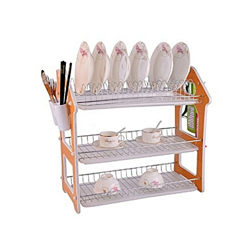 3 Layer Plate Rack /Dish Drainer - 22 Inches