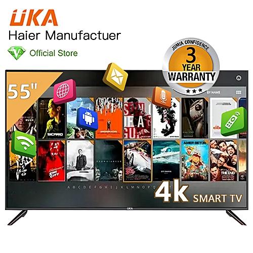 55 Smart LED UHD TV - Haier Manufacturer - Black