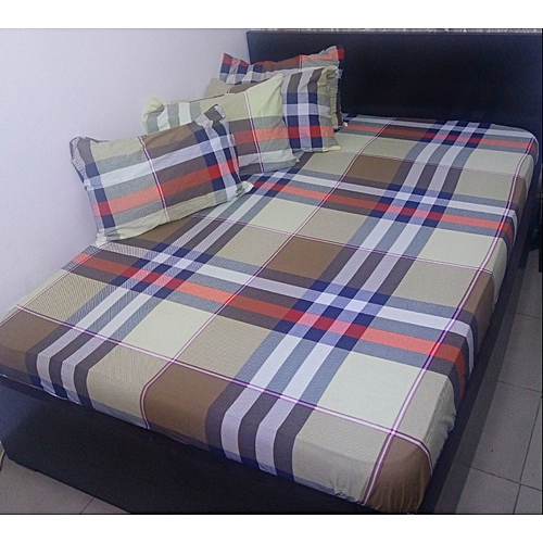 Burberry Full America Cotton Bedsheets With Four Pillowcases