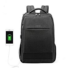 cc6482a8e352 Men  039 s Fashion Travel Backpacks Anti Theft USB Charging 15.6 Laptop Bag  Waterproof