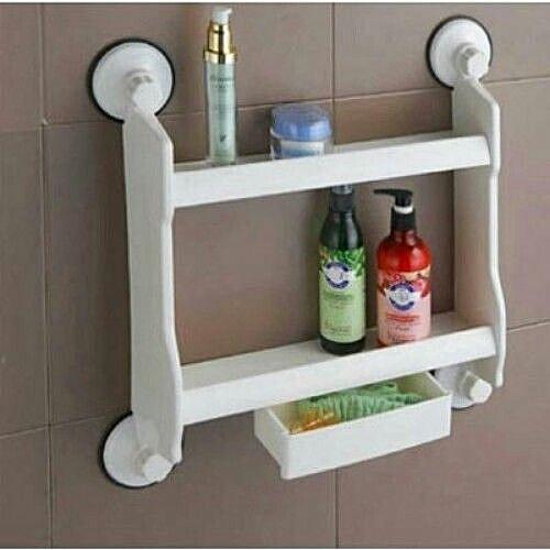 Kitchen/Bathroom Double Layer Storage Shelf With Drawer