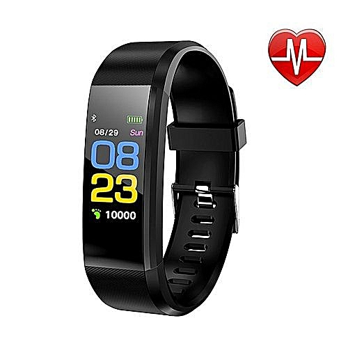 Fitness Tracker Heart Rate Monitor Exercise Band Smart Wristband