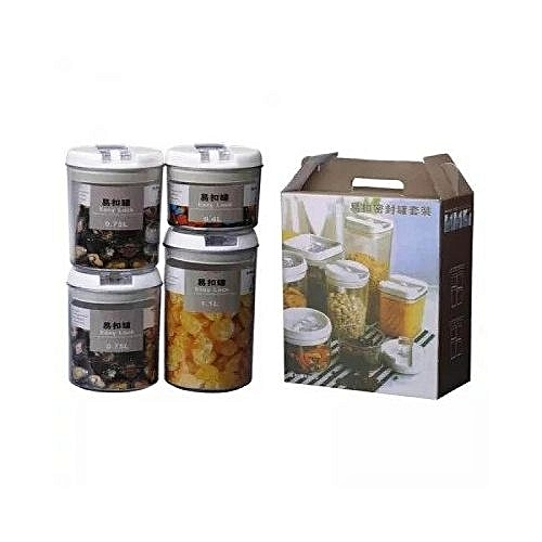 Airtight Storage Containers With Vacuum Seal Lids - Set Of 4