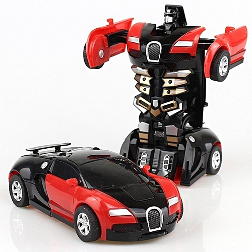 DM Transformation Toy Car Anime Action Figure Toys Collision Transforming Model-red