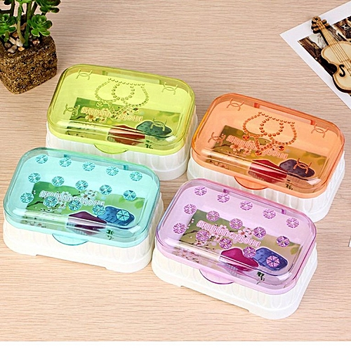 Transparent Plastic Soap Box Bathroom Tray New Creative Household Single Layer Drain With Lid Travel Wholesale