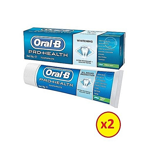 Pro-Health All Round Protection Whitening Toothpaste 95g/75ml (Pack Of 2)