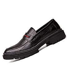 Fashion Business Dress Shoes Men Loafers Soft Skin Leather Oxfords For Men Formal Office Shoes Black for sale  Nigeria