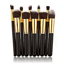 ee12f220d46 10PCS Make Up Foundation Eyebrow Eyeliner Blush -Black/Gold