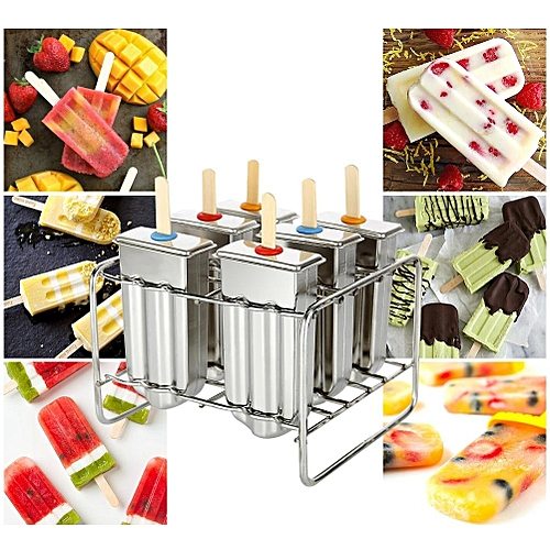 Ice Lolly Mold Stainless Steel Popsicle Mold Ice Cream Mould With Stainless Steel Stick Holder