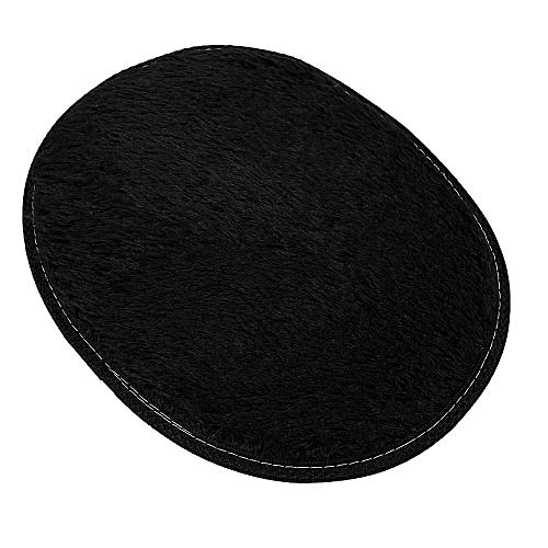 30*40cm Anti-Skid Fluffy Shaggy Area Rug Home Bedroom Bathroom Floor Door Mat-black
