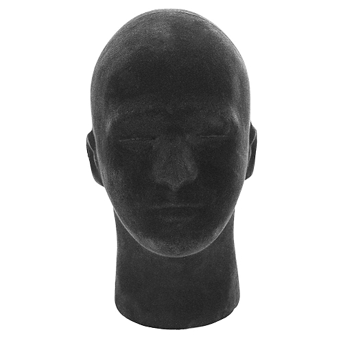 1PC Black Foam Mannequin Manikin Head Model Wigs Cap Headwear Displaying Display Stand