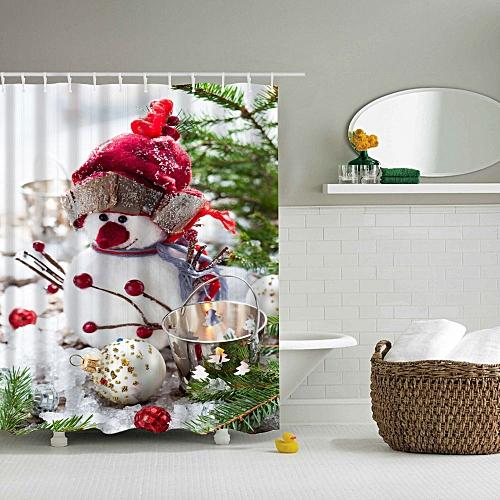 Bathroom Curtain Xmas Shower Curtain NEW Colorful 15 Pattern Decor Waterproof Durable Christmas