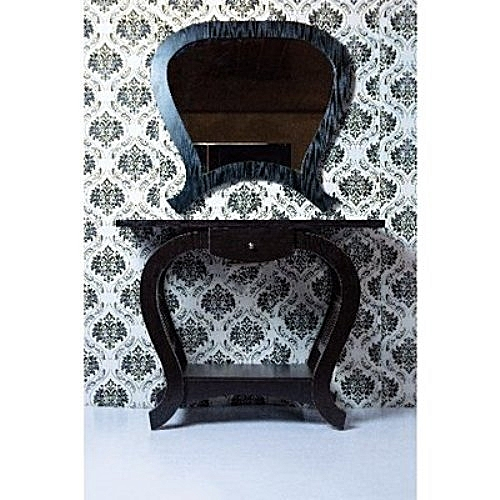 Console With Mirror - Brown(Delivery Within Lagos Only)