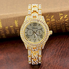 3a3777c450a Women  039 s Gold-Plated Fully Studded Watch