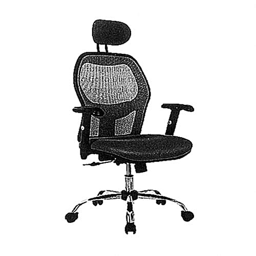 Executive Mesh And Fabric Swivel Office Chair