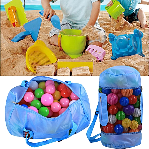 Braveayong Baby Beach Portable Kids Toy Organizer Storage Bag Outdoor Beach Shell Sand SB -Sky Blue