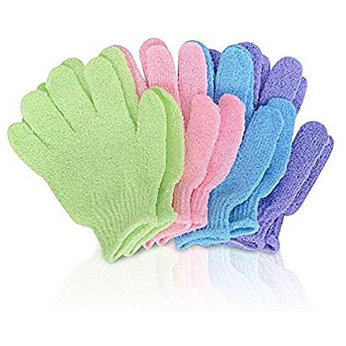 4 Pair Of Shower Scrub Glove