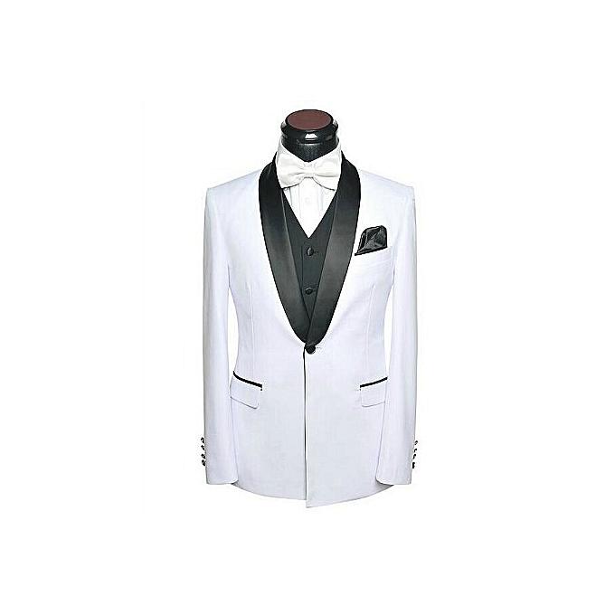 Fashion High Quality White Tuxedo Groom Groomsmen Wedding Party