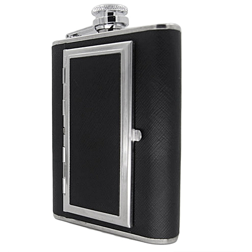 5oz/150ML Stainless Steel Hip Flask Wine Pot Cigarettes Case With Funnel