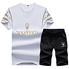 c92d8049a 2 In1 Fashion Men  039 s Short Sleeve Shorts - White   Black