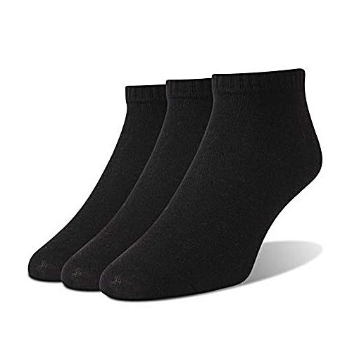 Quality Ankle Socks - 3 Pairs - Black