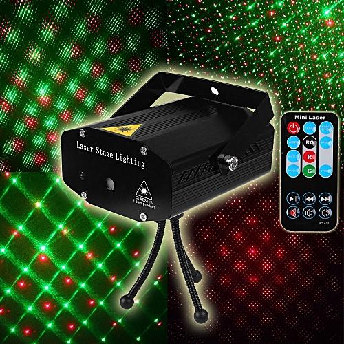 DJ Laser Light Par Led Stage Light Laser Disco Lamp Christmas Laser Projector Controller Remote Stage Lamp Show Party Lighting WOEDB