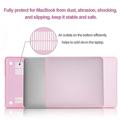 [Buy 1 Get 1 Free Gift] Sweatbuy Mac Air Plastic Hard Shell Case Laptop Skin Cover Frosted Hard Case Two-piece Protector For MacBook Air 11'' (Pink)