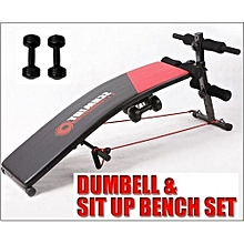 Fitness Curved Situp Bench With Dumbbells for sale  Nigeria