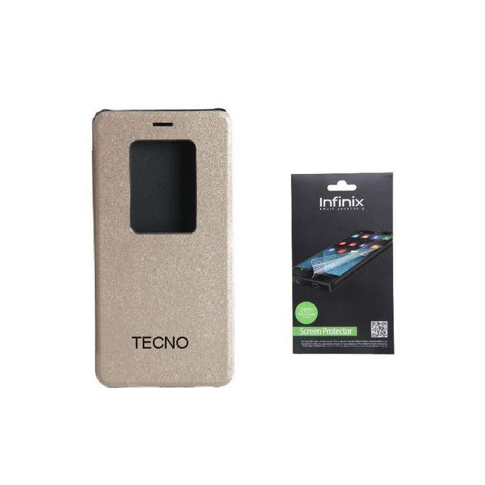 Universal Tecno C8 Smart Leather Flip Case with Sensor ...