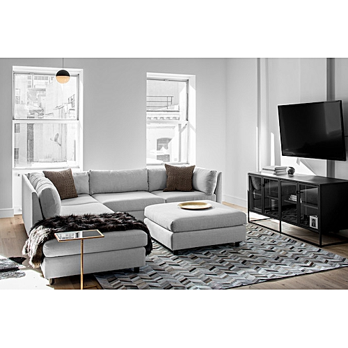 Cleanda Sectional Set With Ottoman