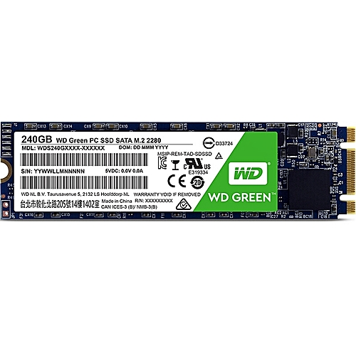 WD M.2 2280 Internal Solid State Drive - GREEN