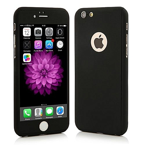 half off aec8f 2eafb 360 Full Body Protection Hard Slim Case With Tempered Glass Screen  Protector For Apple IPhone 5 5S