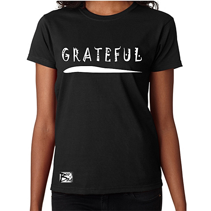 6e1e9240e BnB Grateful BLACK Women Polo Tshirt ROUNDneck | Jumia.com.ng
