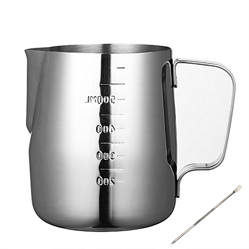 600ml Coffee Milk Frothing Pitcher Jug With Measurement