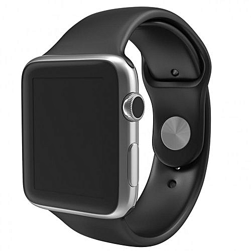 Hot Sale SIM/TF Bluetooth Sport Pedometer A1G08 Smart Watch For Android Smartphone And Apple 5 5S 6 6 Plus -Black