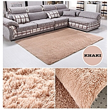 Fiber House Living Room Bedroom Carpet Anti Skid Shaggy Area Rug Floor Mat