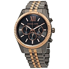 829c83854a13 Men  039 s Lexington Black Dial Chronograph Two Tone Watch