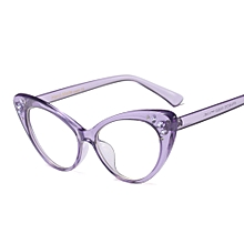 1b3f027b3188 Rhinestone Cat Eye Glasses Frame Women Optical Sexy - Purple
