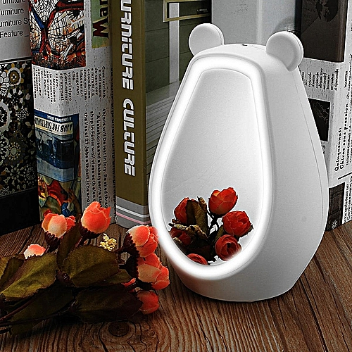 Mirror Alarm Clock Wireless Bluetooth Speaker Night Light LED Lamp USB Bedroom White