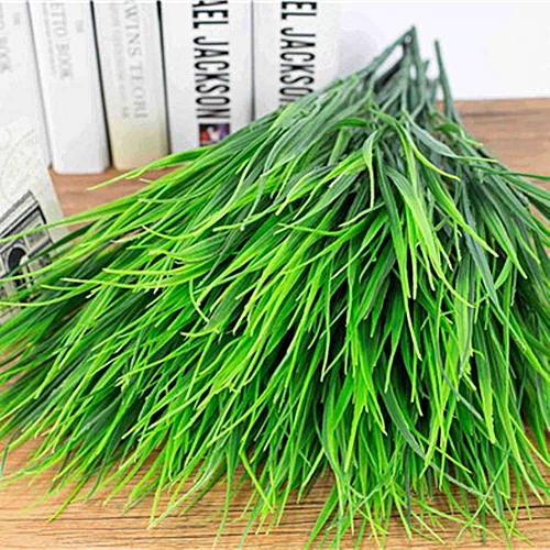 Tanson Green Artificial Plants For Simulation Flowers Home Hotel Store Decor Decorative Plastic Spring Grass (Color: Green)