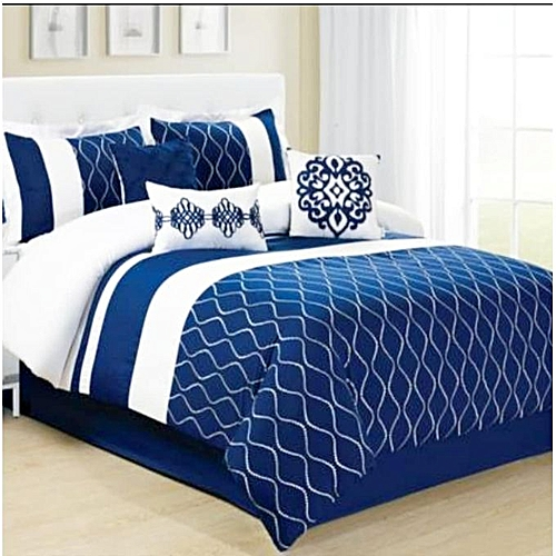 Black And White Duvet, Bedsheet And Four Pillow Case