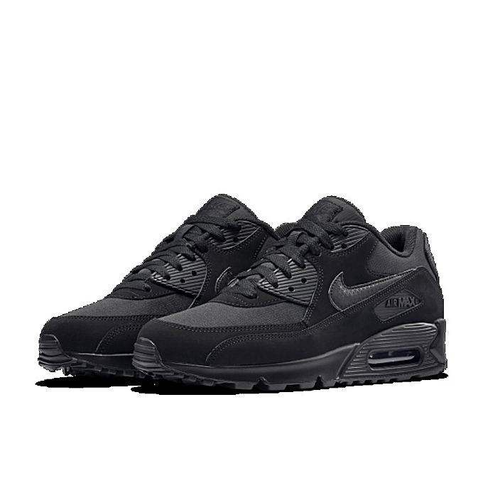 pretty nice e3215 ea337 Nike Air Max 90 Essential Black Shoes