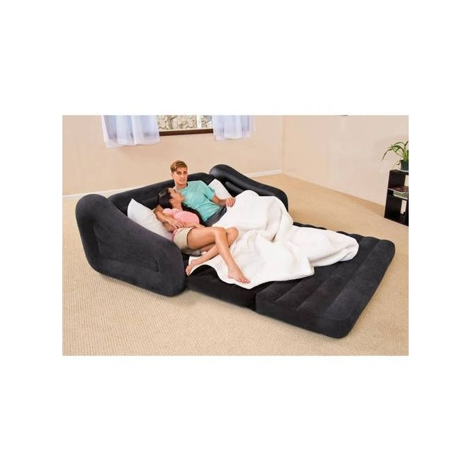 Inflatable Sofa Buy Online: Intex Inflatable Double Pull-Out And Pull-Up Sofa Chair-Black + Pump