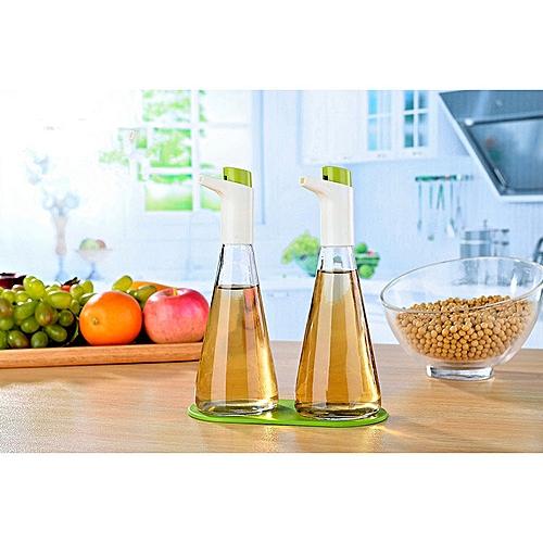 1PC Kitchen Sulies Glass Oiler Leak-proof Pot Of Vinegar Oil Bottle Soy Sauce And Vinegar Cruet Seasoning Bottle OK 0389 HLS