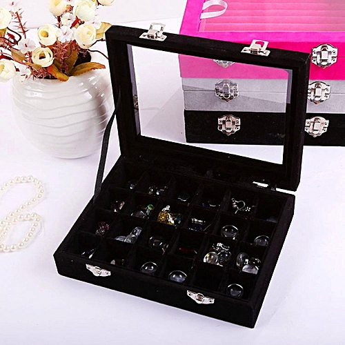 24 Ornaments Earrings Display Frames Earrings Boxes With Covers Black